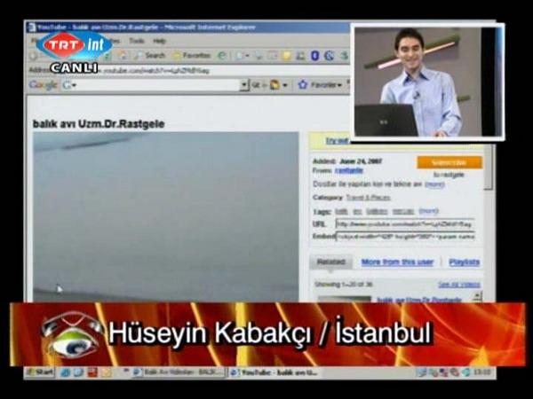 www.balıksevdasi.com un TRT İNT' de yayınlanan tanıtım görüntülerinde benim videolarım (Uzm.Dr.Rastgele eski nickli)