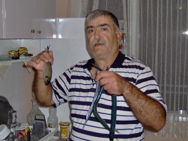babam Karşıyaka iskeleden almış zargana ve lidaki